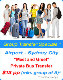 Group Transfer Specials - Sydney Airport Shuttle - Star Shuttle